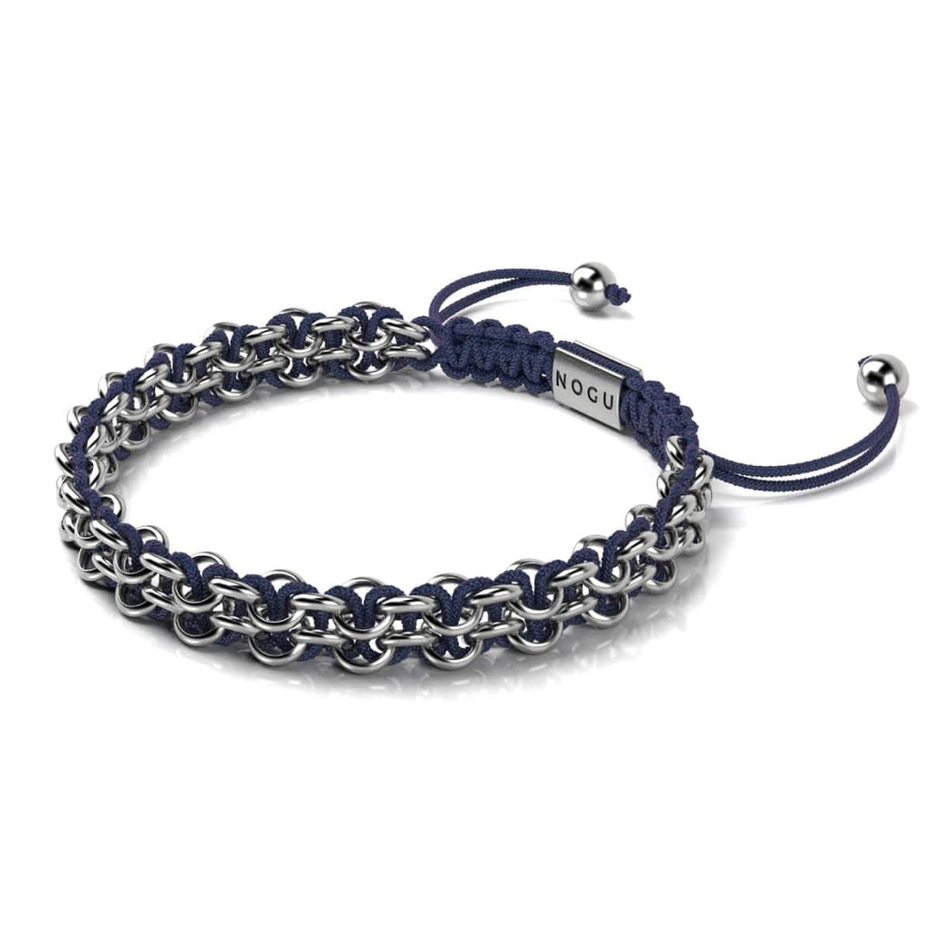 Kismet Links | Cause Bracelet | Silver | Navy Blue