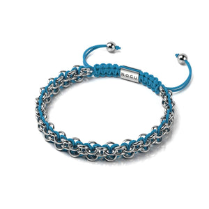 Kismet Links | Cause Bracelet | Silver | Sky Blue