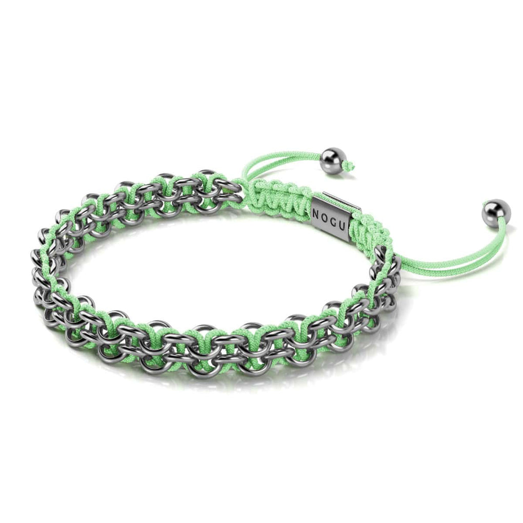 Crocodile Links | Mini Kismet Bracelet | Mint Green x Silver