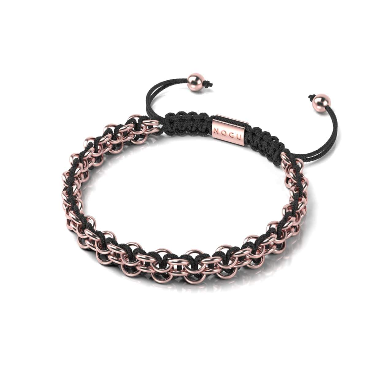 Supreme Kismet Links Bracelet | 18k Rose Gold | Black | Thin