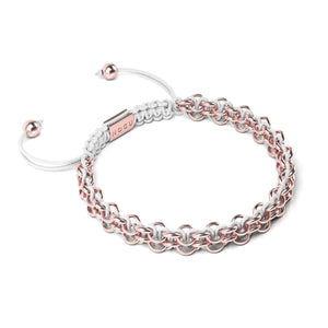 Supreme Kismet Links Bracelet | 18k Rose Gold | White | Thin