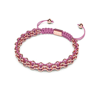Supreme Kismet Links Bracelet | 18k Rose Gold | Pink | Thin