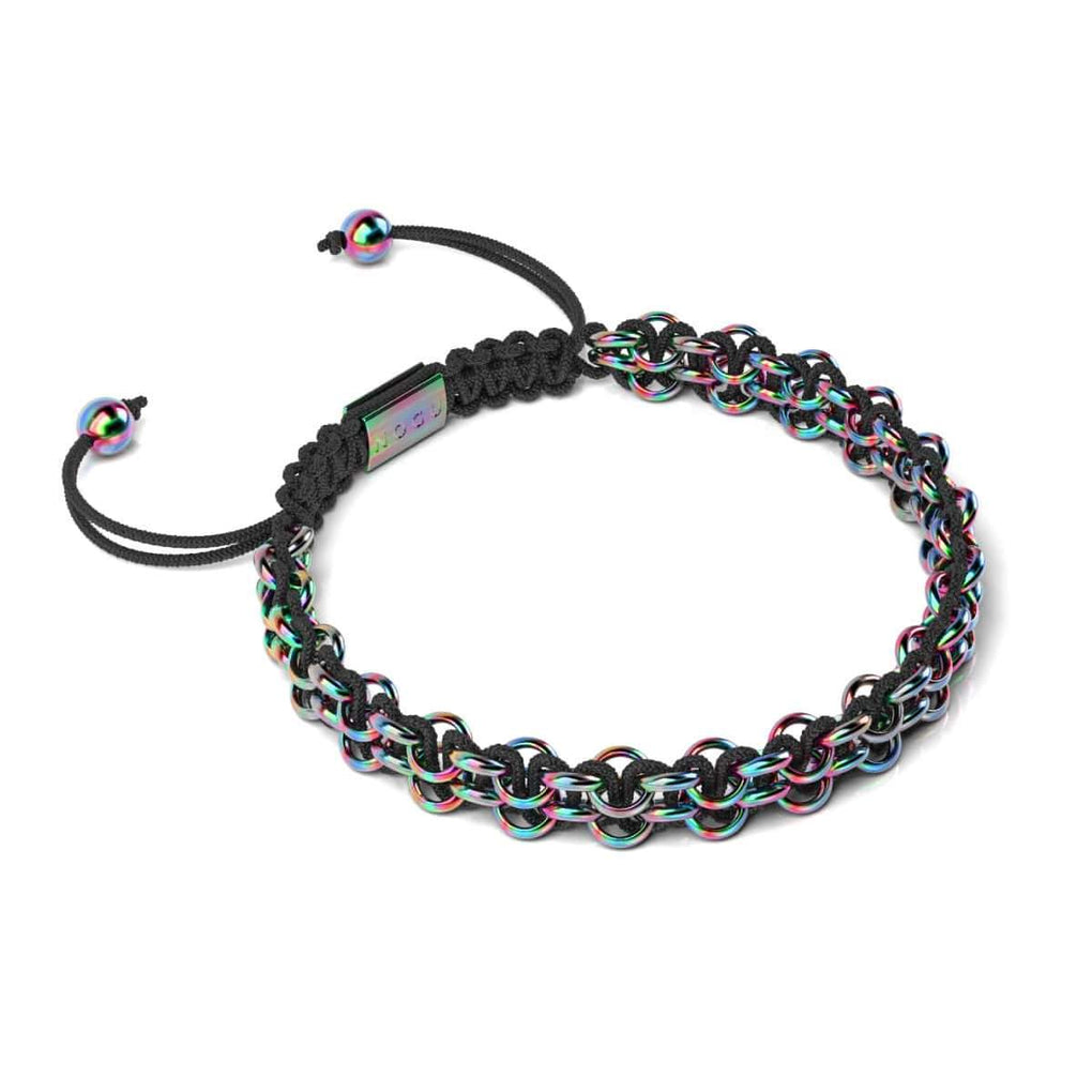 Chameleon Links | Mini Kismet Bracelet | Black x Unicorn Silver