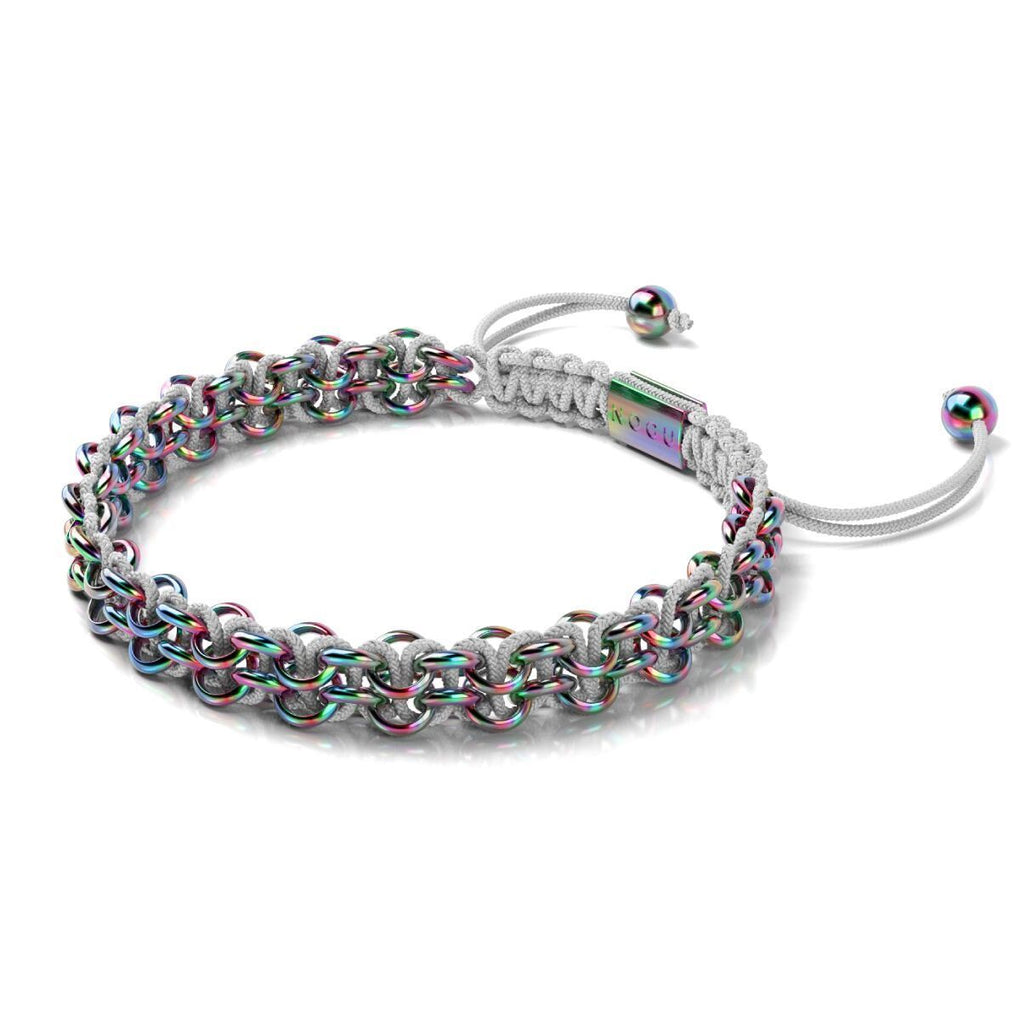 Kismet Links | Pantone Bracelet | Unicorn Silver | White