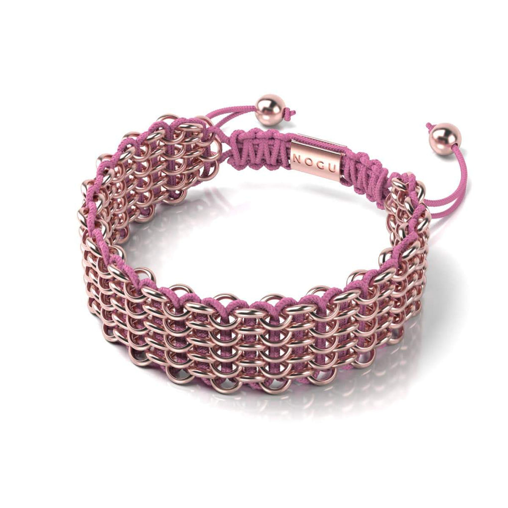 Supreme Kismet Links Bracelet | 18k Rose Gold | Pink | Deluxe