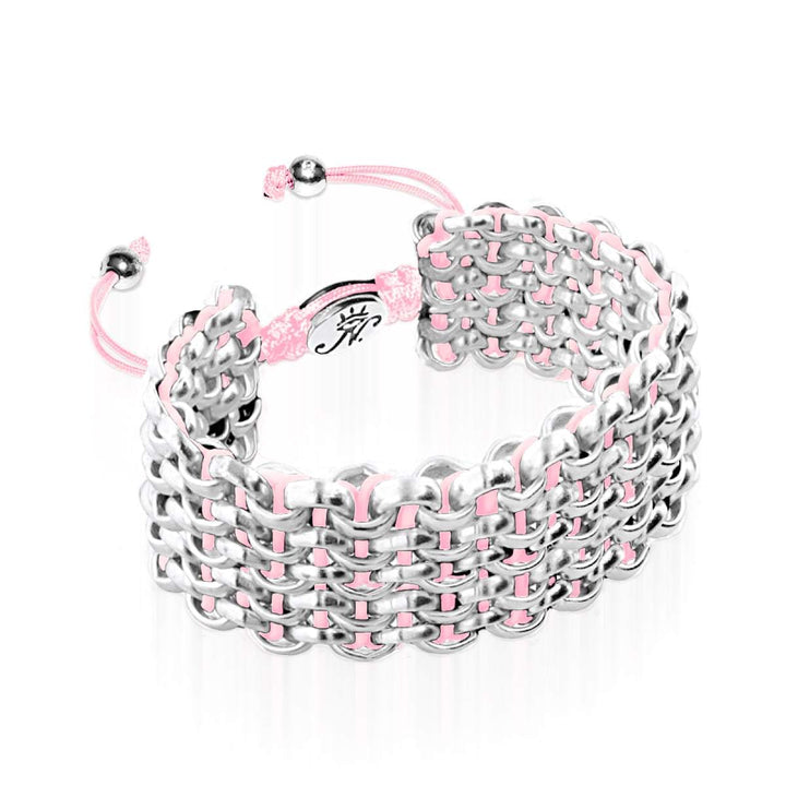 Silver Kismet Links Bracelet | Strawberry | Deluxe