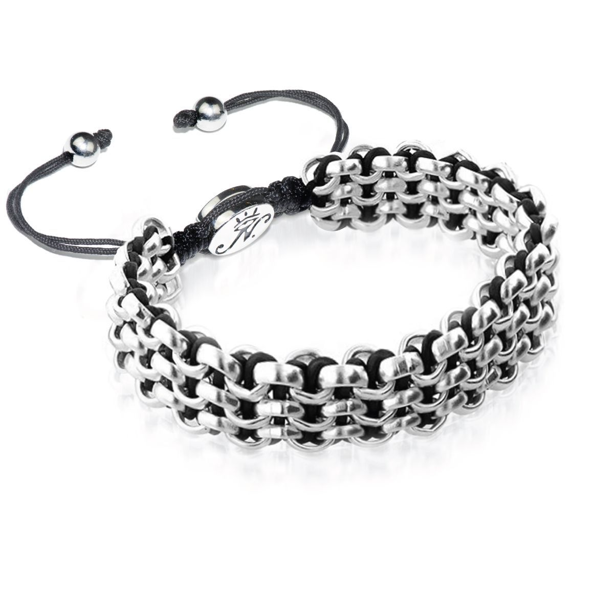 Silver Kismet Links Bracelet | Black