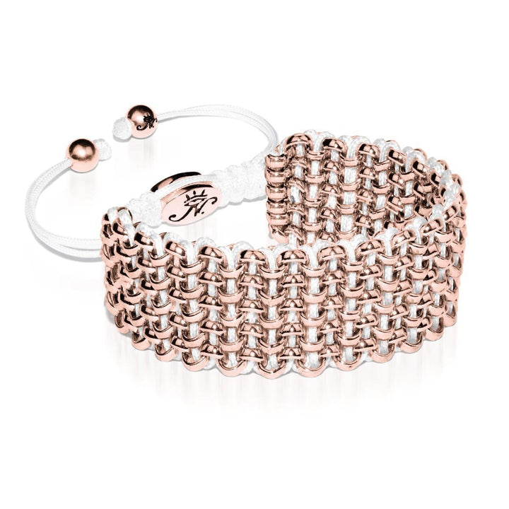 Rose Gold Kismet Links Bracelet | White | Deluxe