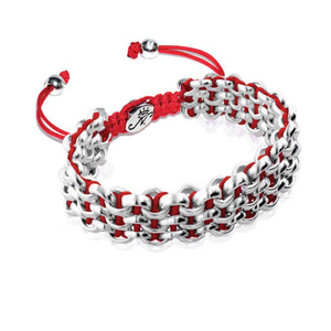 Silver Kismet Links Bracelet | Crimson Rose