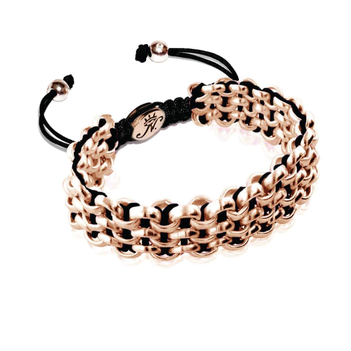 Rose Gold Kismet Links Bracelet | Black