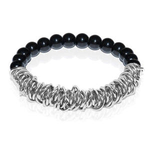 Silver | Black Onyx | Links of Love Bracelet