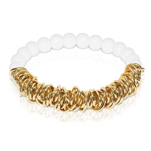 18k Gold | White Jasper | Links of Love Bracelet