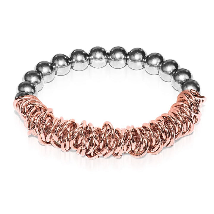 Silver | 18k Rose Gold | Links of Love Bracelet