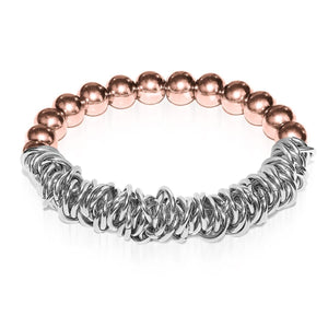18k Rose Gold | Silver | Links of Love Bracelet