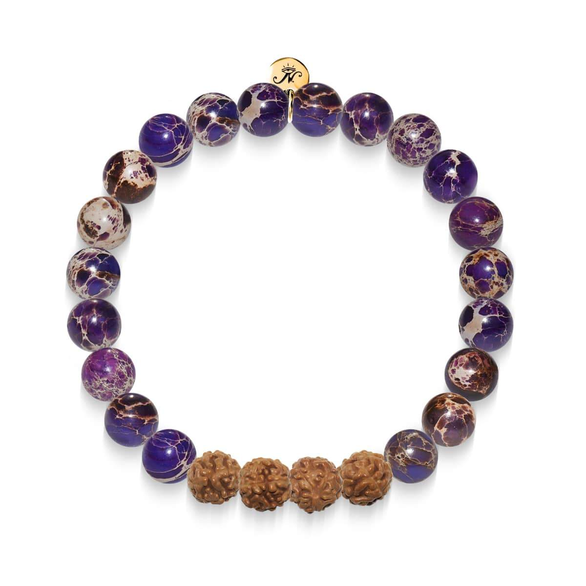 Premonition | Gold Mala Yoga Bracelet | Purple Regarte