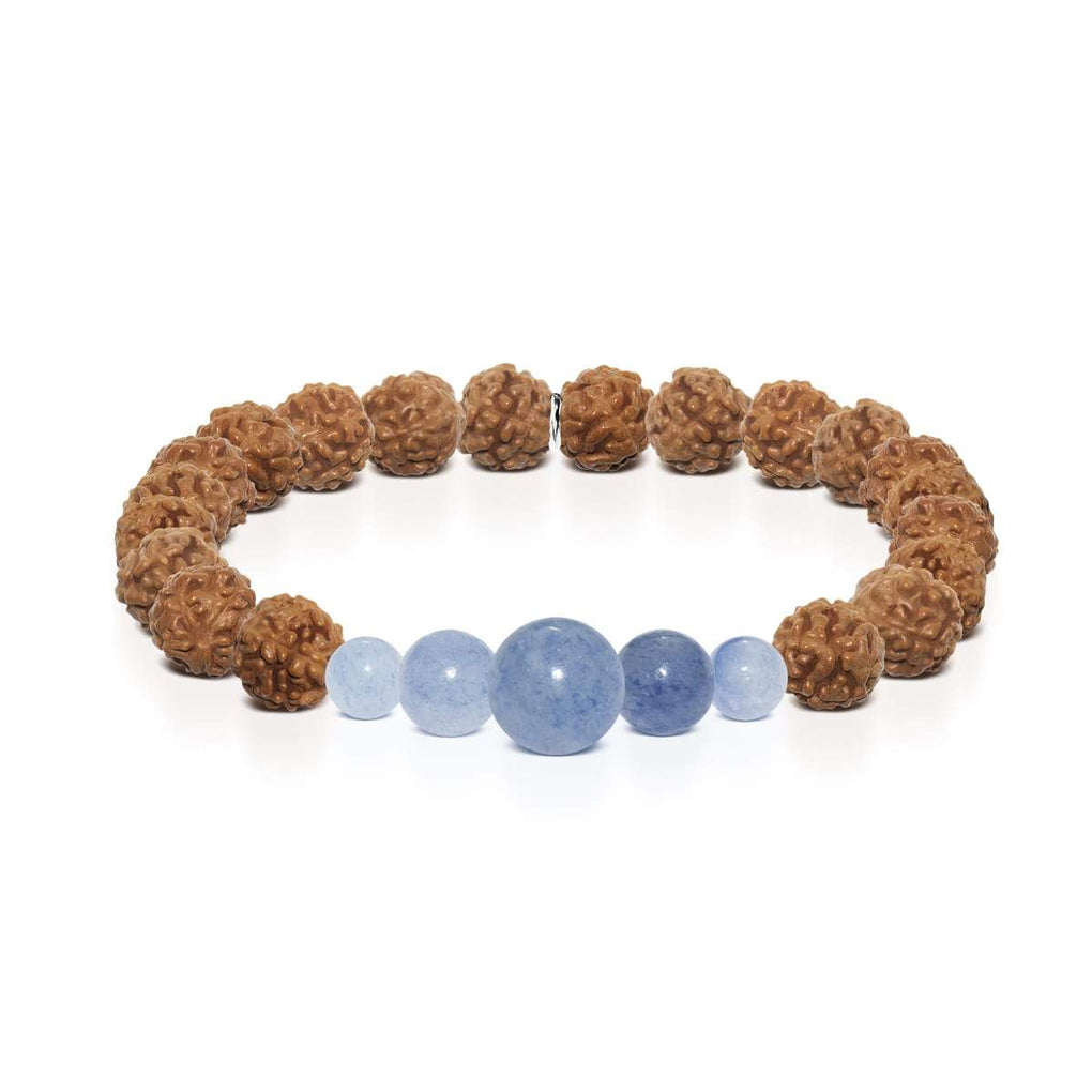 Winds of Change | Silver Mala Yoga Bracelet | Blue Aventurine