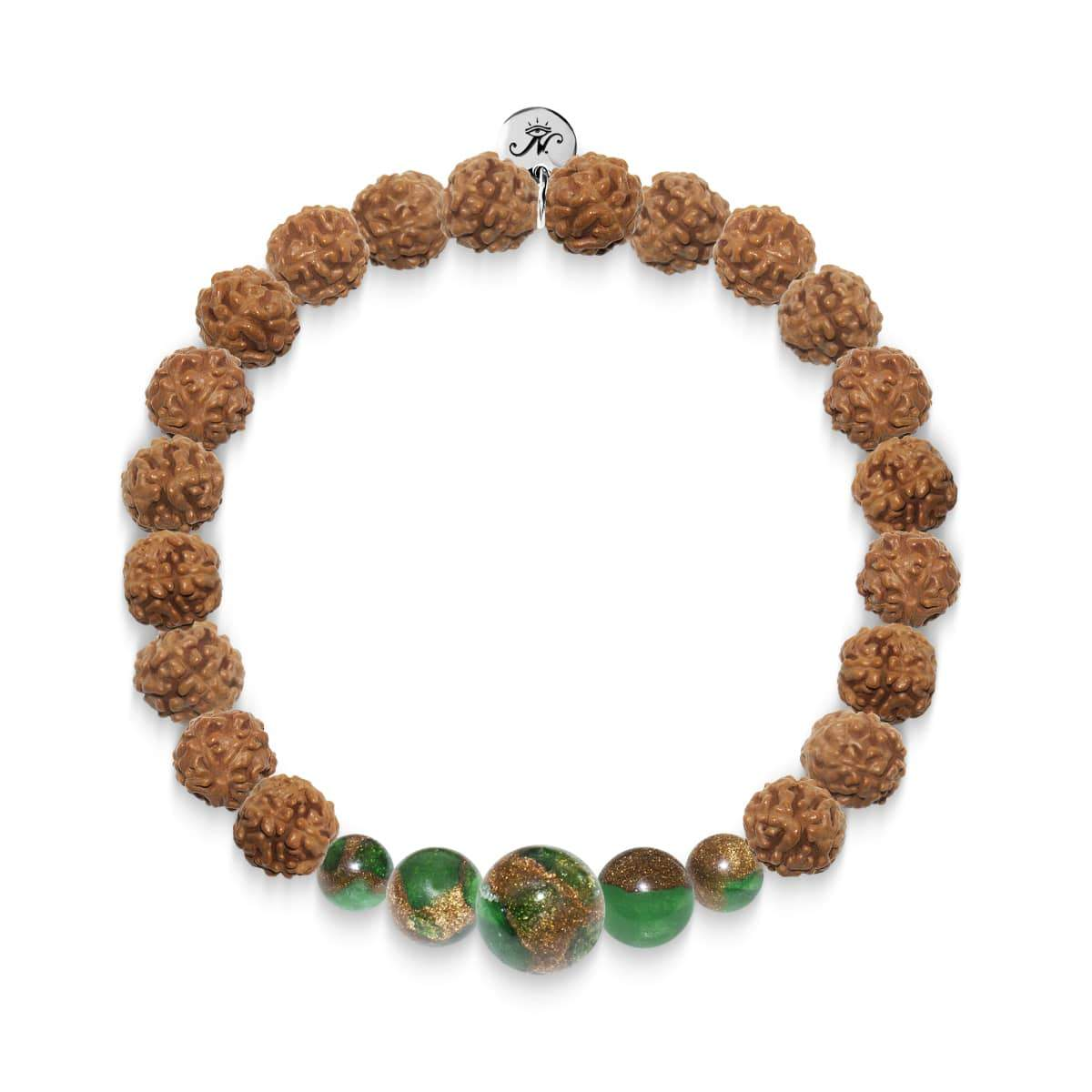 Meeting of Minds | Silver Mala Yoga Bracelet | New Green Agate