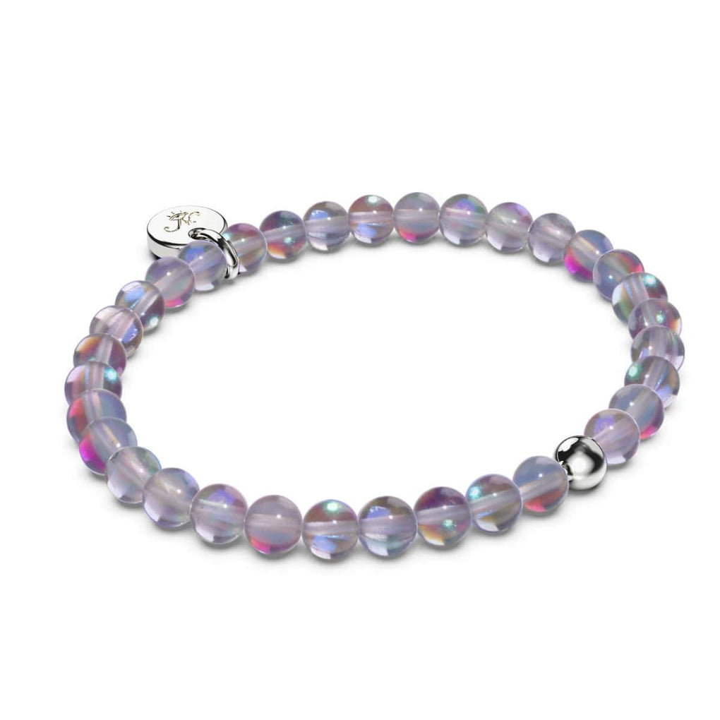 Milky Way | .925 Sterling Silver | Galaxy Glass Bead Bracelet