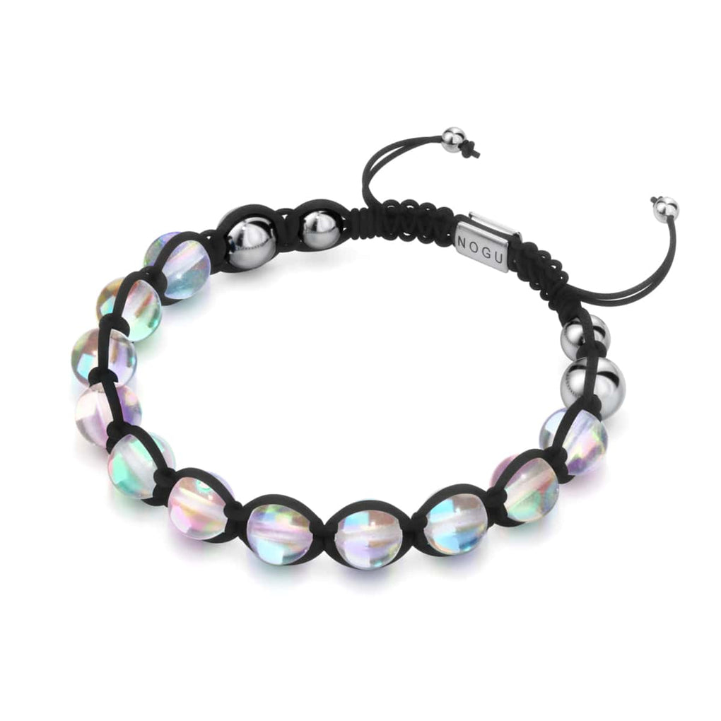 Neon Black | Rainbow Supernova | Silver | Galaxy Glass Charmballa Bracelet
