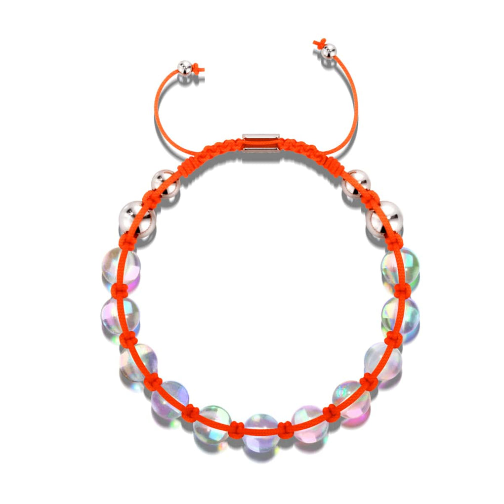 Neon Orange | Rainbow Supernova | Silver | Galaxy Glass Charmballa Bracelet