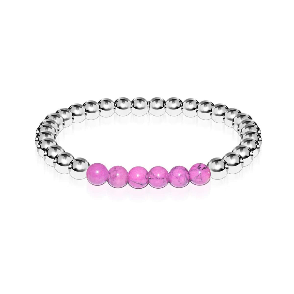Blissful | Silver | Purple Turquoise | Expression Bracelet
