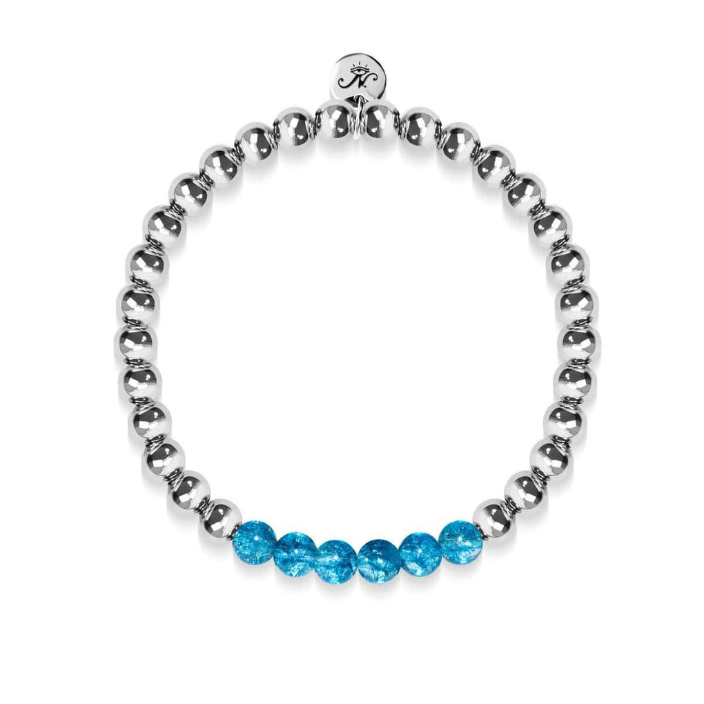 Delightful | Silver | Blue Crystal | Gemstone Expression Bracelet