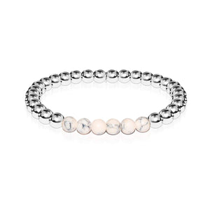 Enthusiastic | Silver | Cream Turquoise | Expression Bracelet