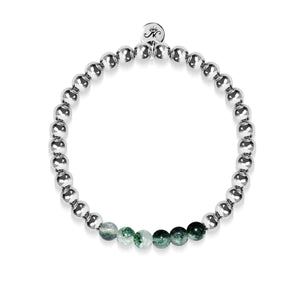 Grateful | Silver | Green Crystal | Expression Bracelet
