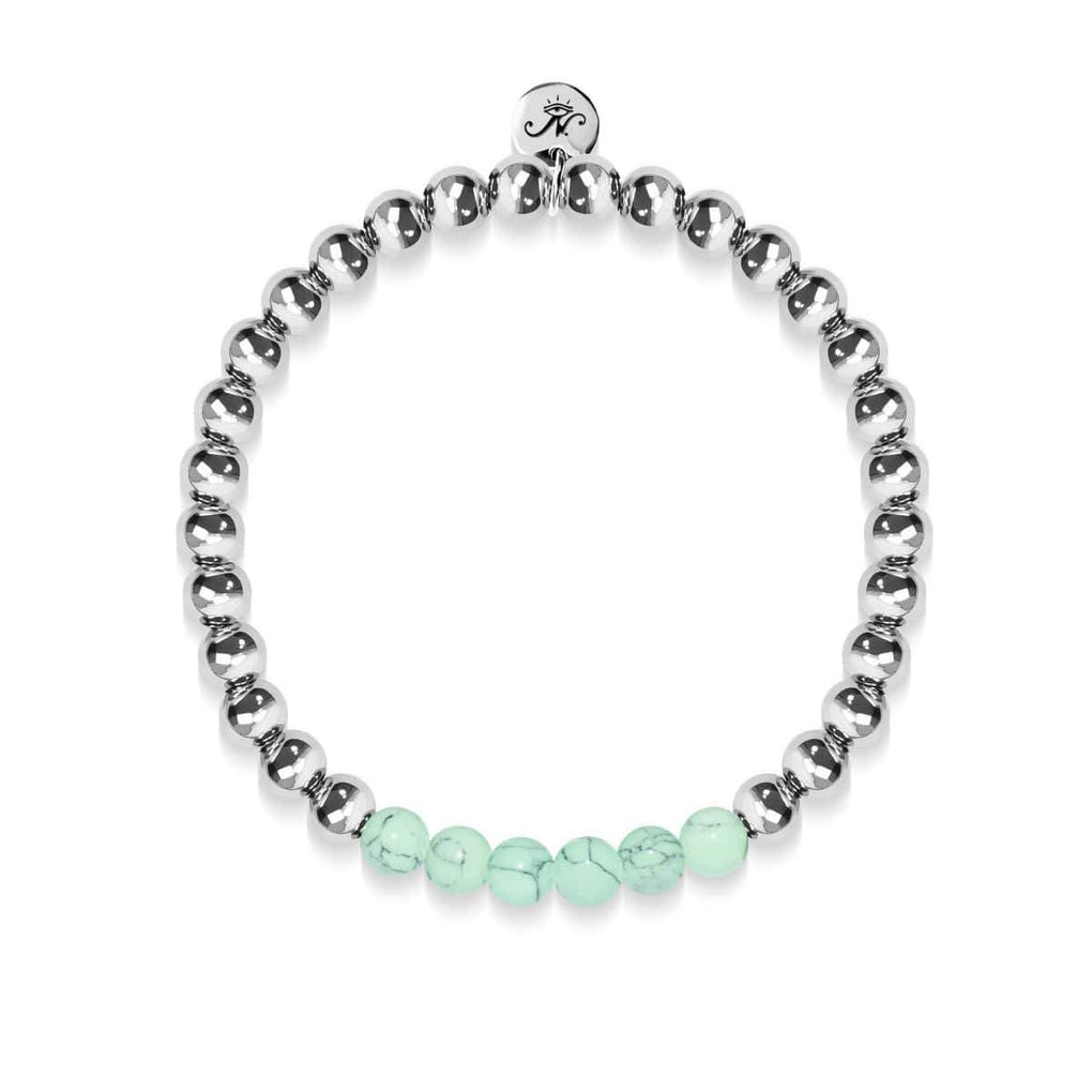 Proud | Silver | Green Turquoise | Gemstone Expression Bracelet