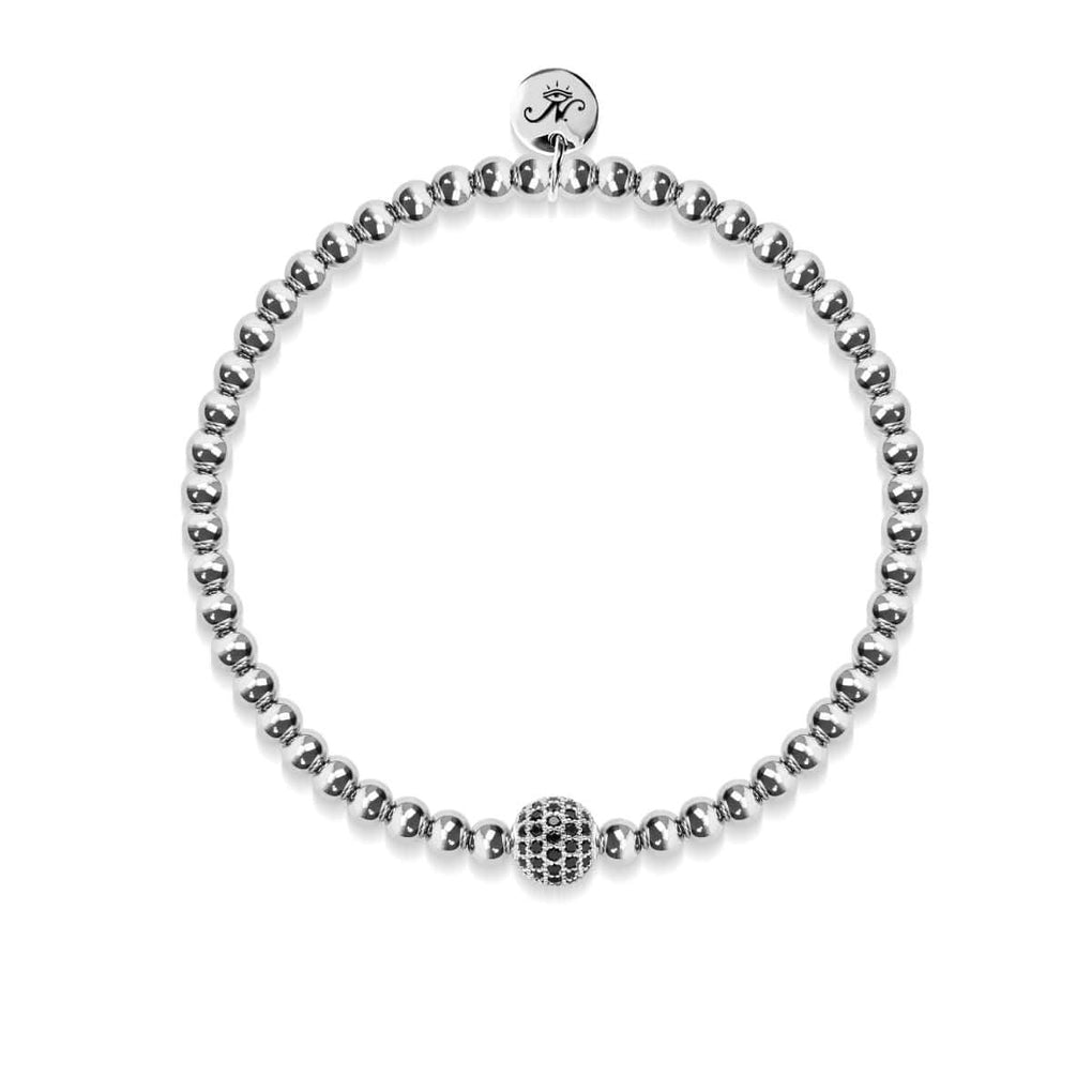 Charismatic | Silver | Black Cubic Zirconia Crystals | Expression Bracelet