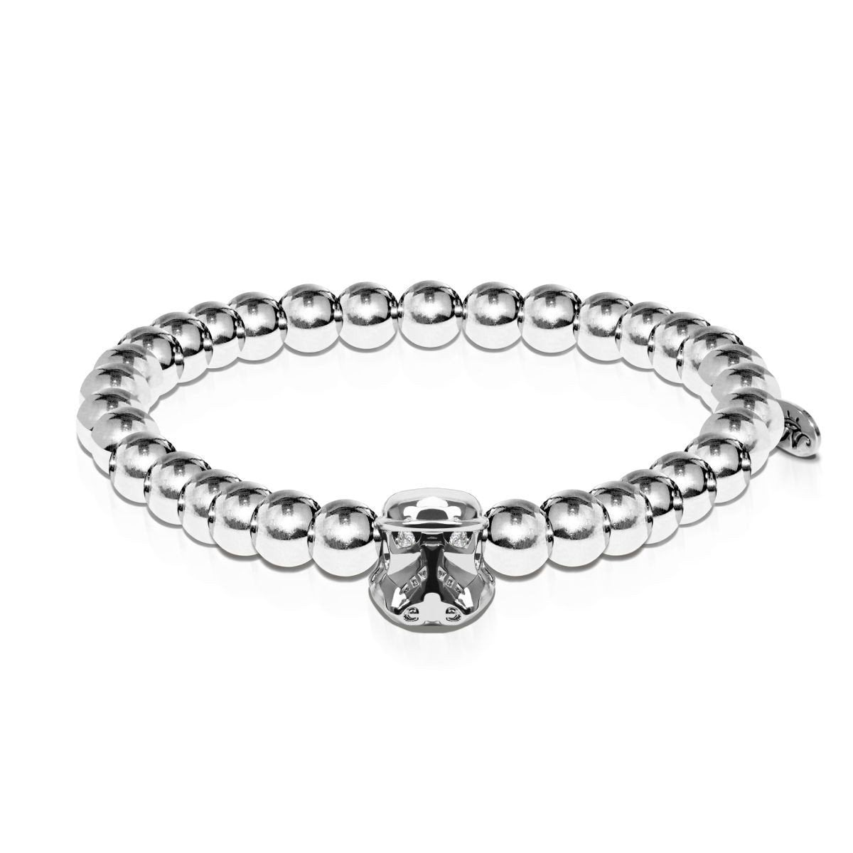 Men's | Trooper | Silver | Crystal Charm Bracelet