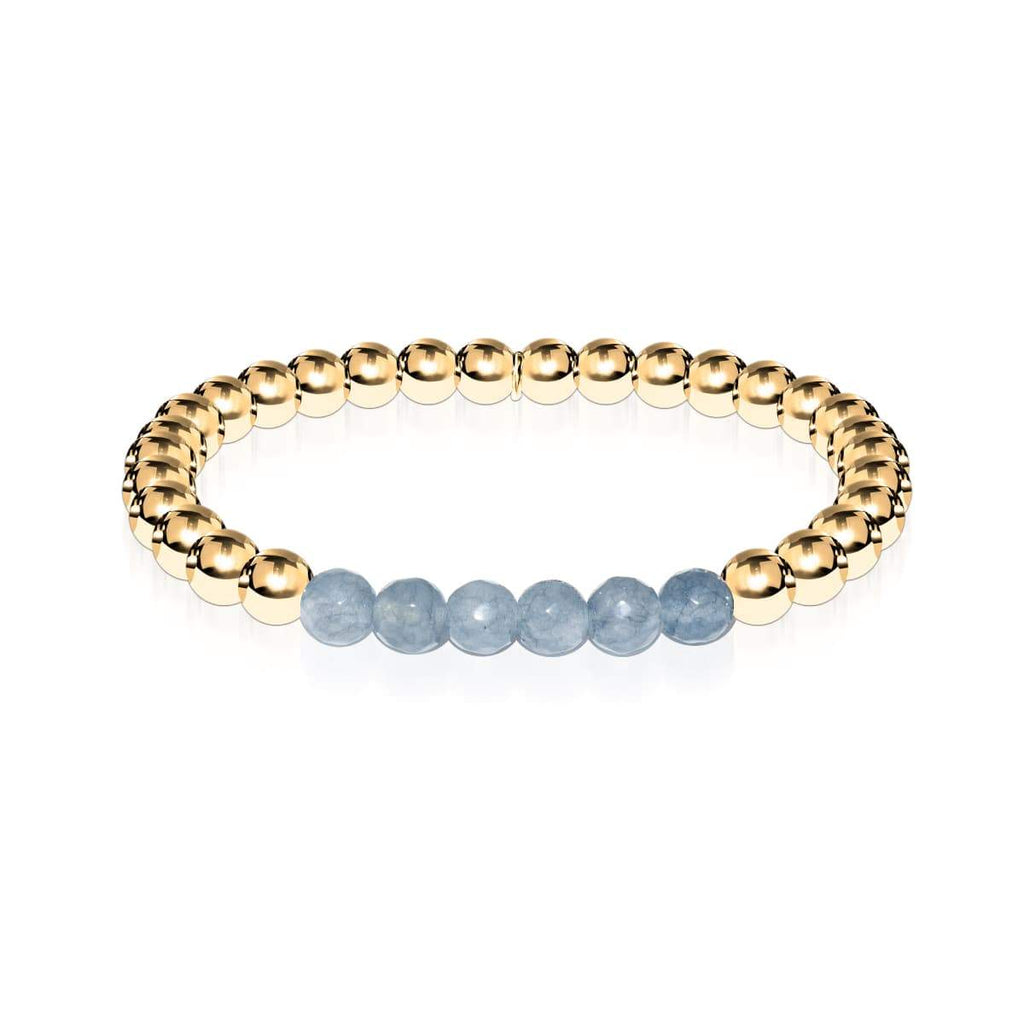 Appealing | 18k Gold | Faceted Grey Jade | Expression Bracelet