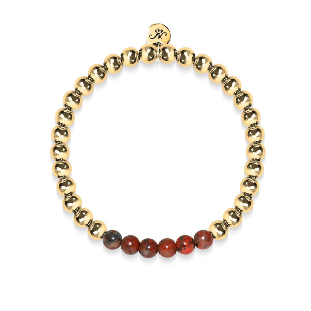Wistful | 18k Gold | Breciated Jasper | Gemstone Expression Bracelet