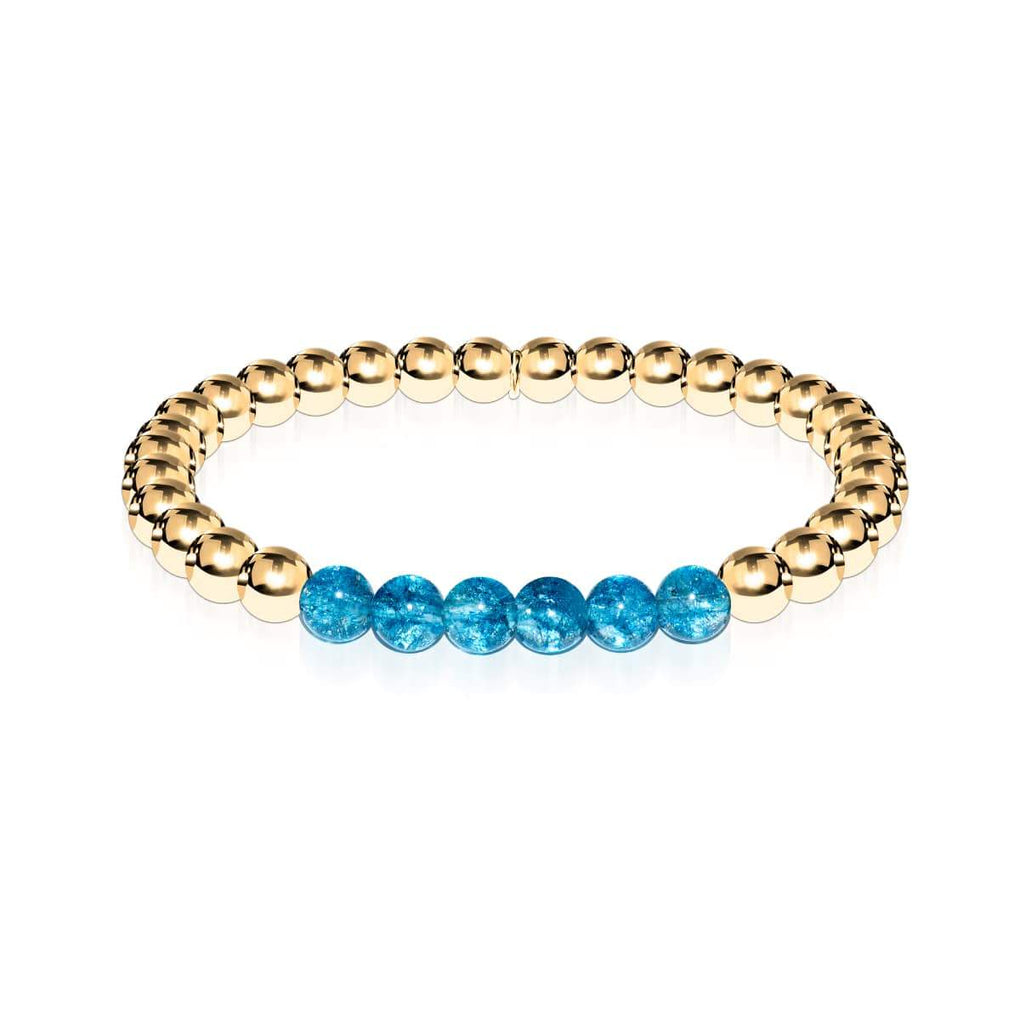 Delightful | 18k Gold | Blue Crystal | Gemstone Expression Bracelet