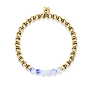 Joyful | 18k Gold | Porcelain Jade | Expression Bracelet