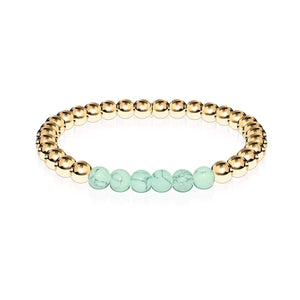 Proud | 18k Gold | Green Turquoise | Expression Bracelet
