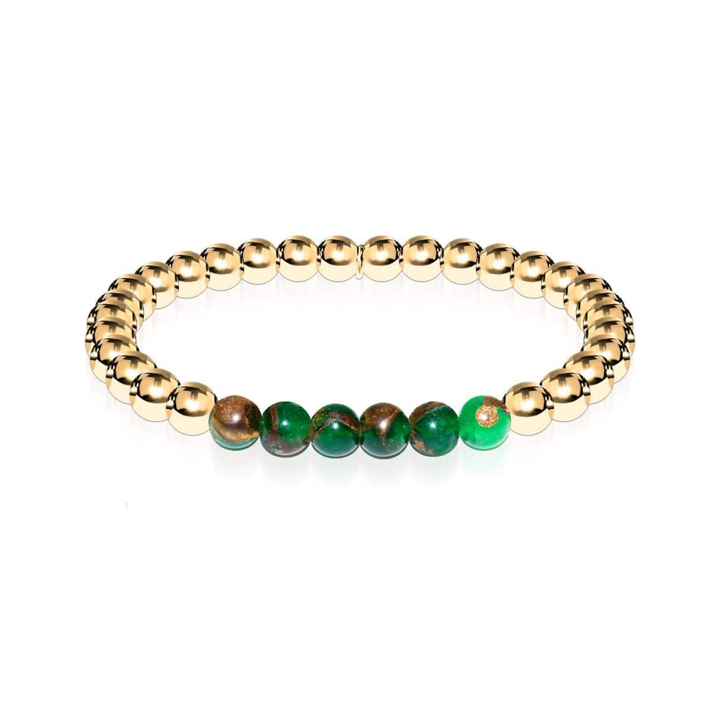 Dreamy | 18k Gold | New Green Agate | Gemstone Expression Bracelet