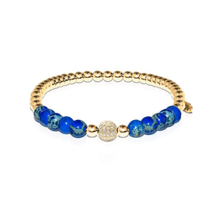 Atlantis | 18k Gold | Crystal Sea Stone Bracelet