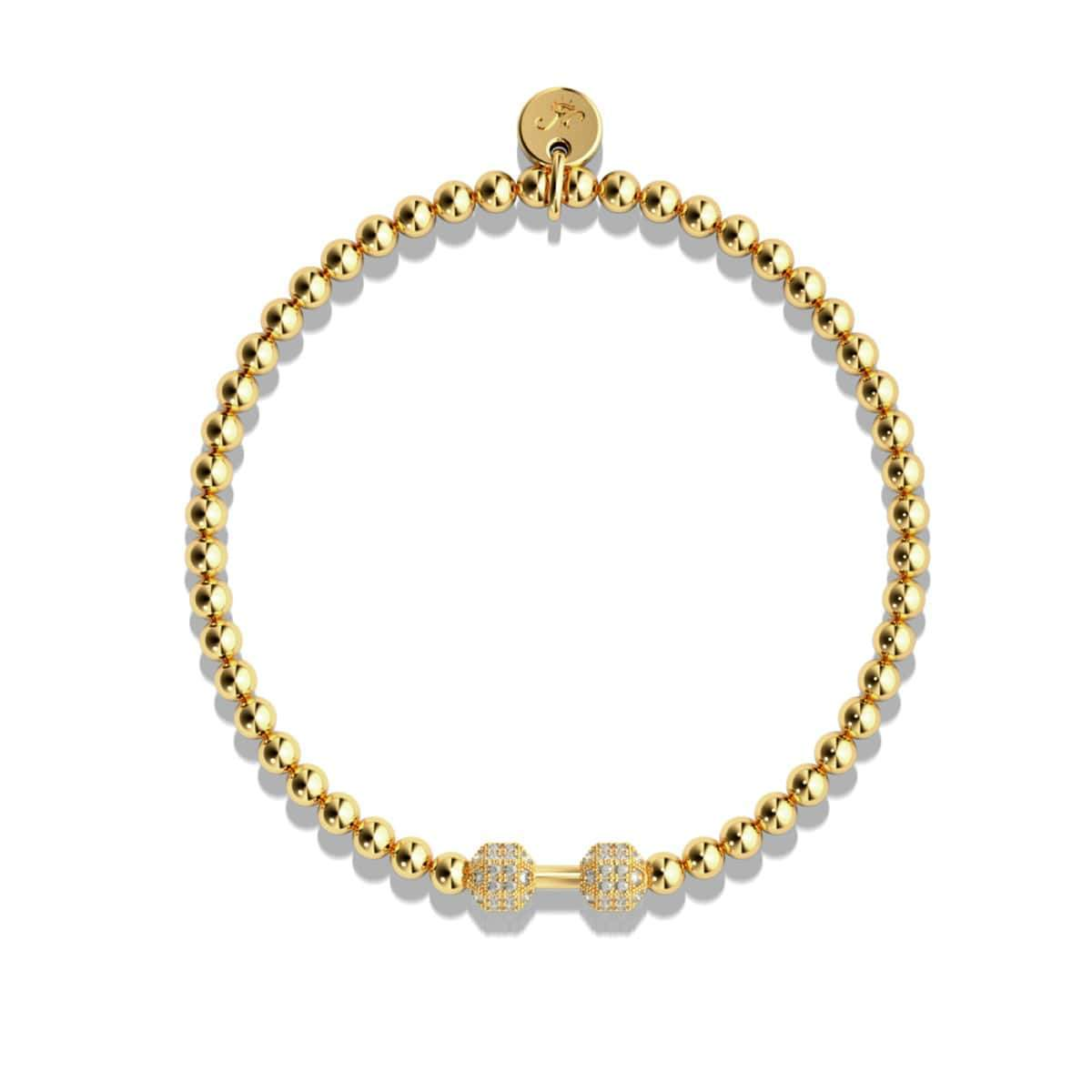 Pump | 18k Gold | Crystal Fitness Bracelet
