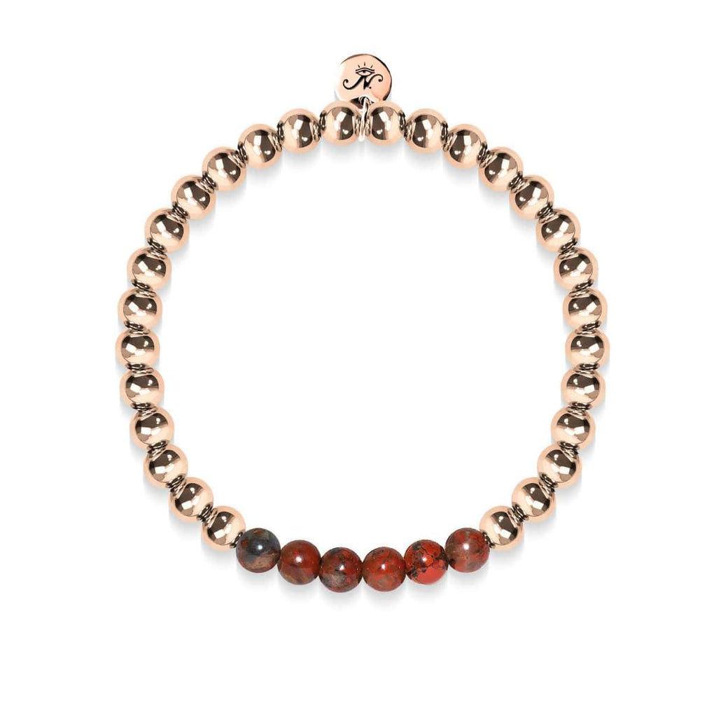 Wistful | 18k Rose Gold | Breciated Jasper | Gemstone Expression Bracelet