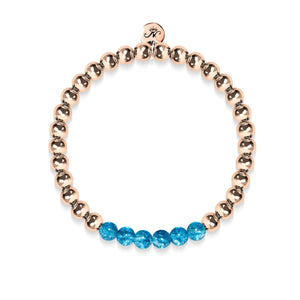 Delightful | 18k Rose Gold | Blue Crystal | Expression Bracelet