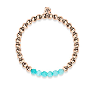 Cheerful | 18k Rose Gold | Aquamarine Jade | Expression Bracelet