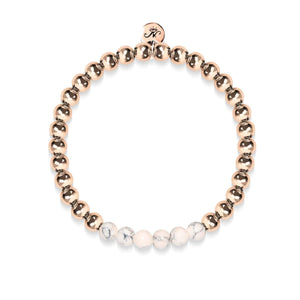 Enthusiastic | 18k Rose Gold | Cream Turquoise | Expression Bracelet