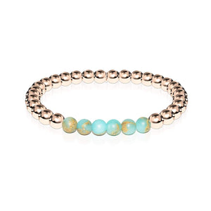 Elated | 18k Rose Gold | Snakeskin Stone | Expression Bracelet