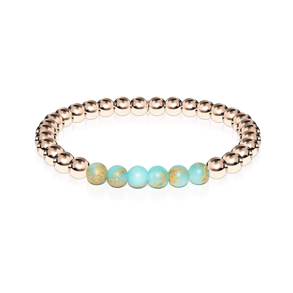 Elated | 18k Rose Gold | Snakeskin Gemstone | Expression Bracelet