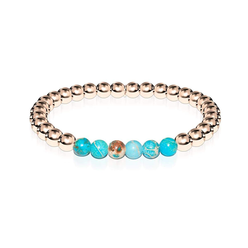 Awe | 18k Rose Gold | Ocean Emperor Gemstone | Expression Bracelet