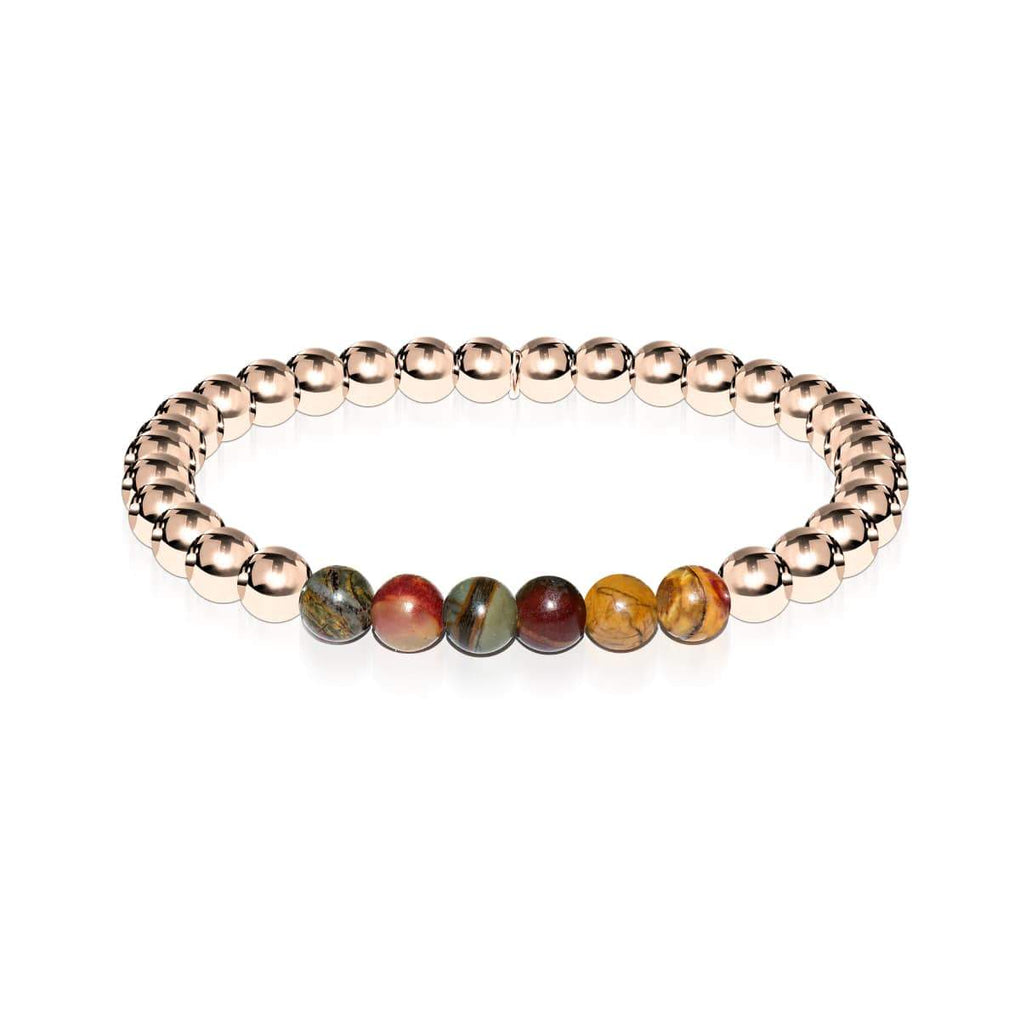 Wild | 18k Rose Gold | Red Picasso Jasper | Gemstone Expression Bracelet