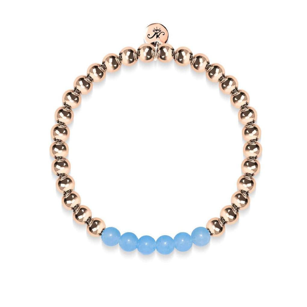 Coy | 18k Rose Gold | Aquamarine | Gemstone Expression Bracelet