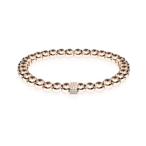 Mesmerizing | 18k Rose Gold | Crystal Pavé Expression Bracelet