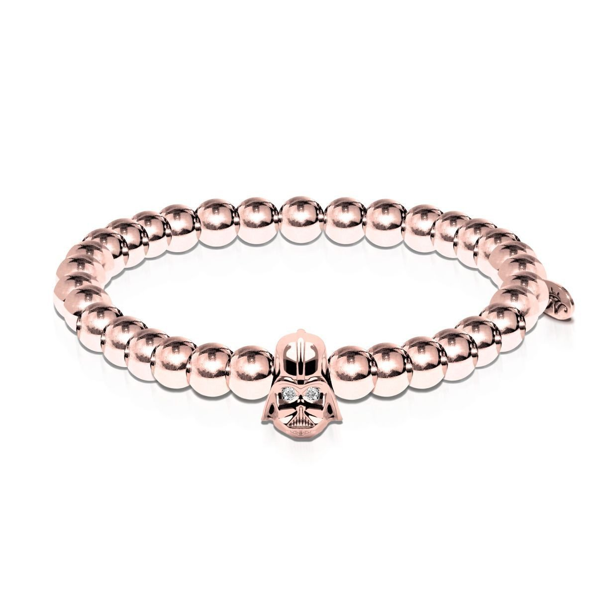 Men's | Vader | 18k Rose Gold | Crystal Charm Bracelet